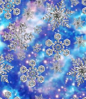 Snowflakes Fantasy Backgrounds Pink, Blue, Midnight & More