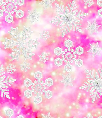 Snowflakes Fairy Princess Pink Seamless Background Tile Image Picture