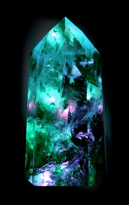 turquoise fantasy crystal