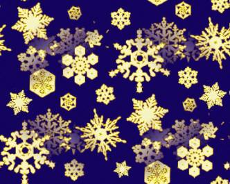 Snowflakes Backgrounds - Gold Snowflakes, Midnight