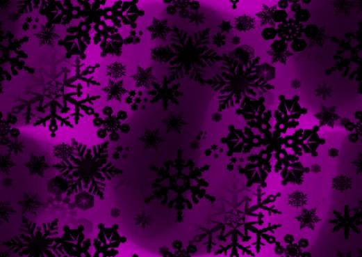 Black Snowflakes Seamless Background Repeating Fill